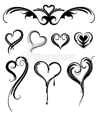 328x380 Various Heart Shaped Tattoos Design. Design Envy ) Love These