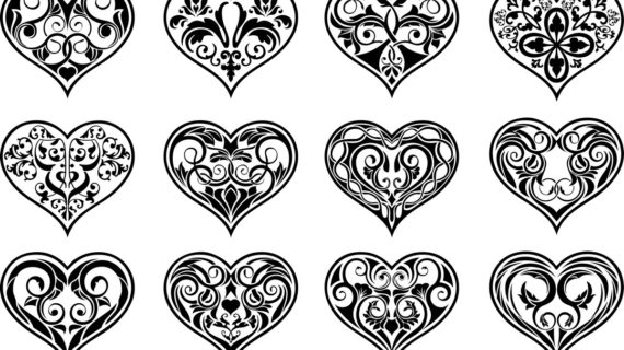 570x320 Cute Heart Designs Drawing How To Draw A Cute Tribal Heart Tattoo