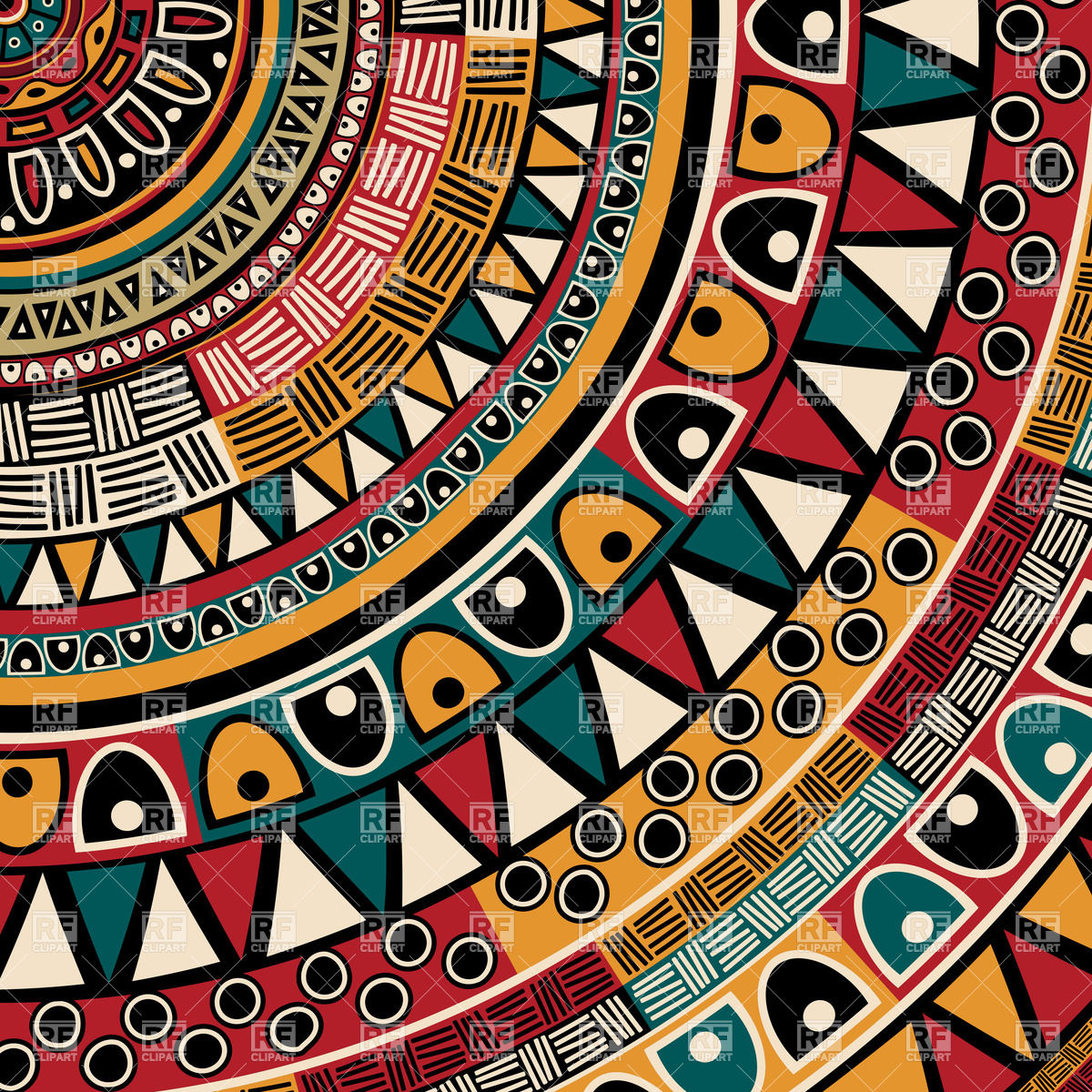 1200x1200 Round Tribal Ethnic Ornament