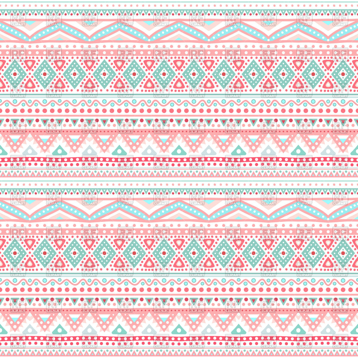 1200x1200 Tribal Ethnic Seamless Pink Pattern Vector Image Vector Artwork
