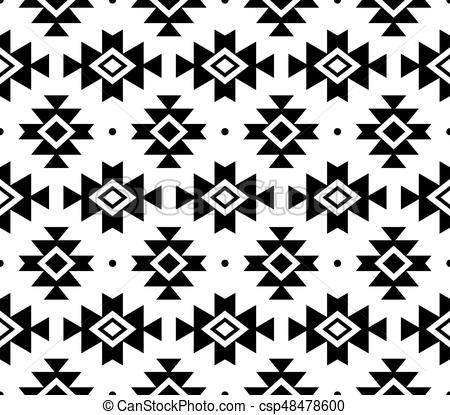 450x415 Tribal Pattern, Aztec Seamless Background, Navajo Vector Design In