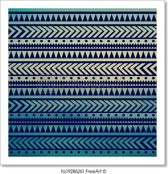 561x581 Free Art Print Of Seamless Vector Tribal Texture. Tribal Vector