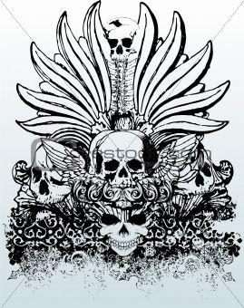 269x340 Tribal Skull Vector Illustration Skull And Art