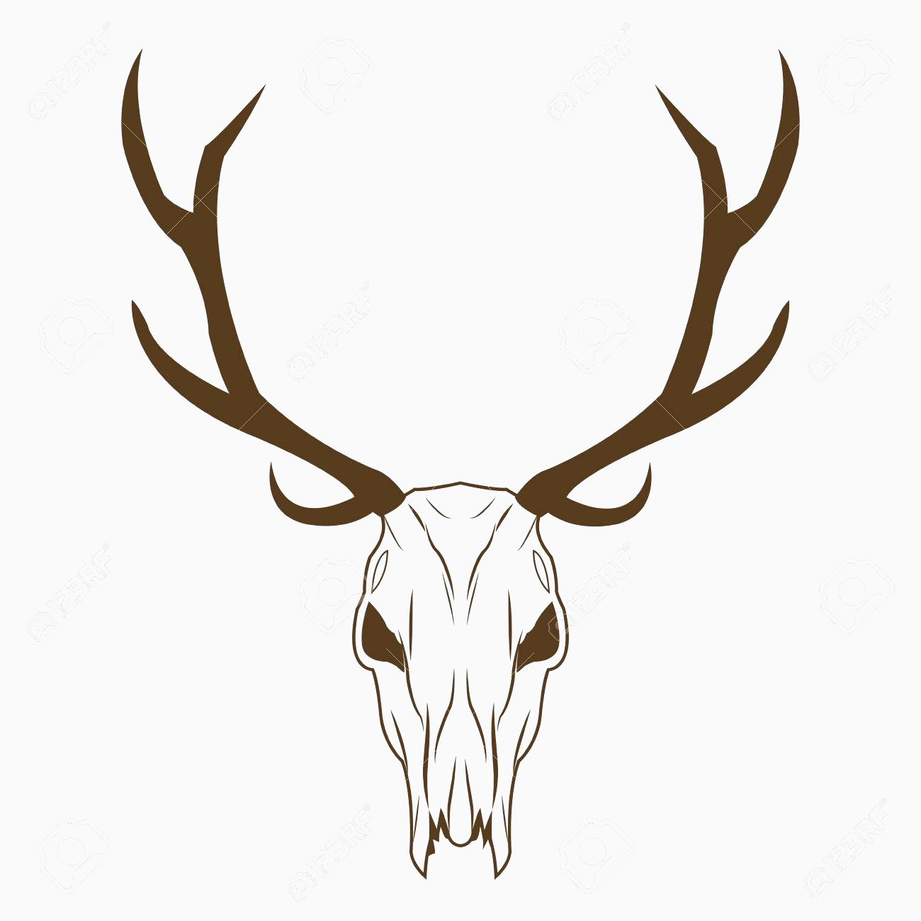 1300x1300 Deer Skull Vector Best Of Deer Skull In Tribal Style Animal Skull