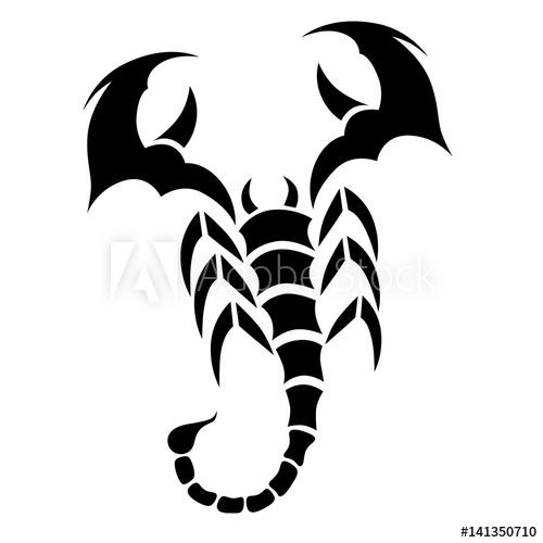500x500 Tattoo Tribal Scorpion. Tribal Tattoos. Art Tribal Tattoo. Vector