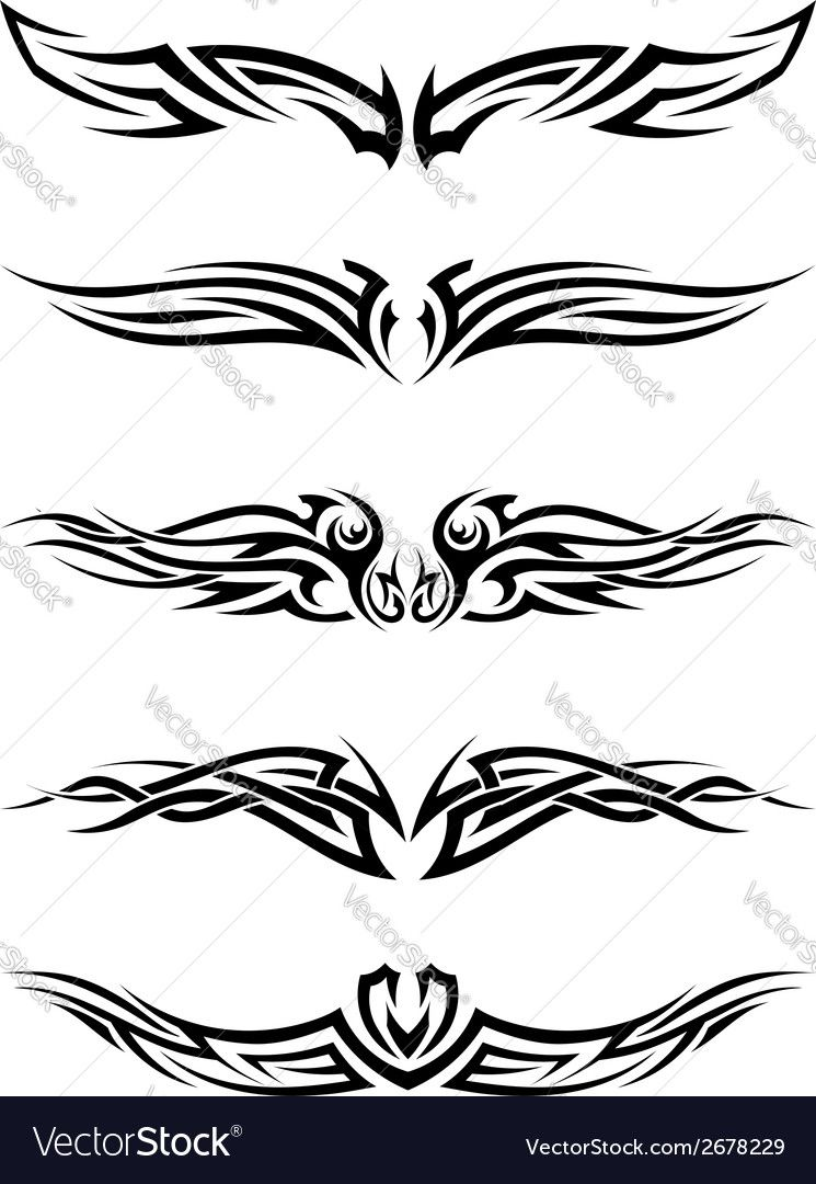 745x1080 Tribal Tattoos Vector Image By Angelp Graphic