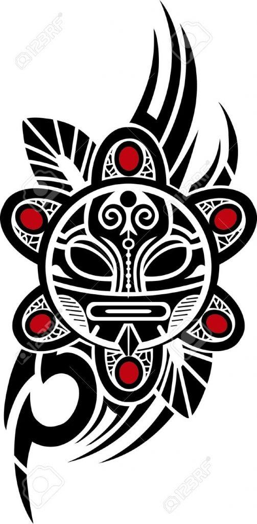 503x1024 Puerto Rican Tribal Tattoos Taino Sun Tribal Vector Illustration