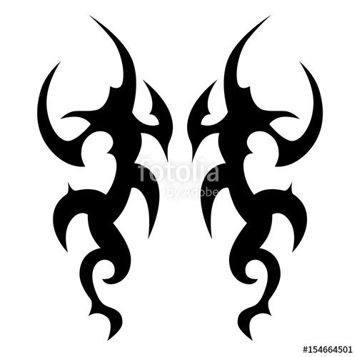 500x500 Tattootattoo Tribal Vector Design. Simple Tattoo Tribal Logo