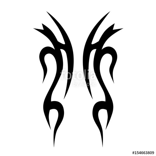 500x500 Tattoos Tribal Vector Pattern Idea Stock Image And Royalty Free