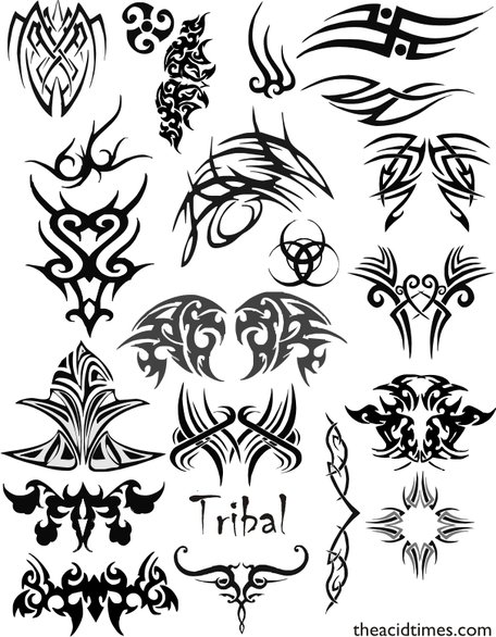 456x586 Free Tribal Vector Set 1 Symbol Vector Tribal Vector Set Tribal