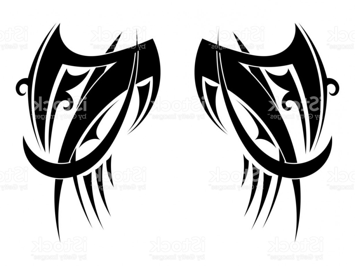 1228x921 Fancy Graphic Tribal Tattoo Wings Vector Illustration Gm Lazttweet