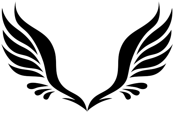 600x386 19 Wing Clip Black And White Tribal Huge Freebie! Download For