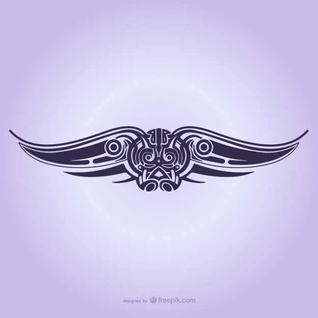 626x626 Tribal Wings Ornament Tattoo Vector Free Vector Download In .ai