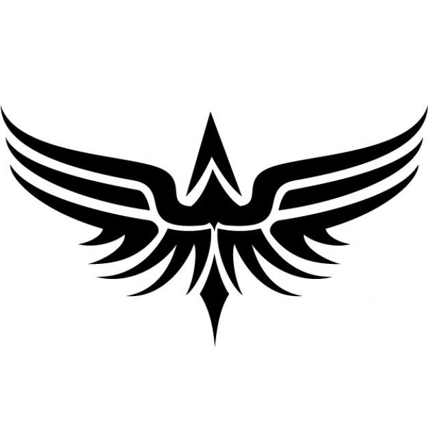 626x626 Tribal Wings Tattoo Vector Clip Art Vector Free Download