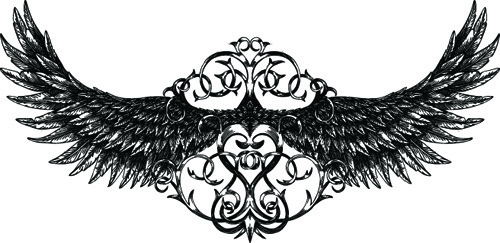 500x243 Vector Tribal Wing Ornament Free Vector Download (13,906 Free