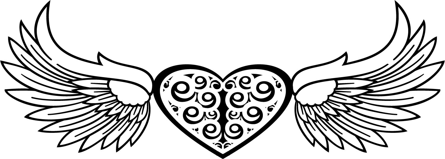 1500x536 Wings Clipart Tribal