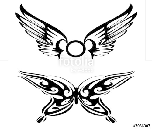 500x423 Tribal Wings Stock Image And Royalty Free Vector Files On Fotolia