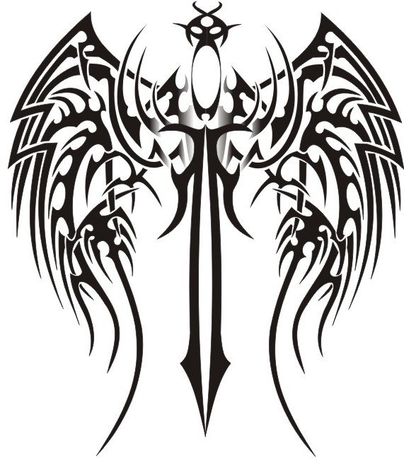571x669 7 Tribal Wings Vector Images