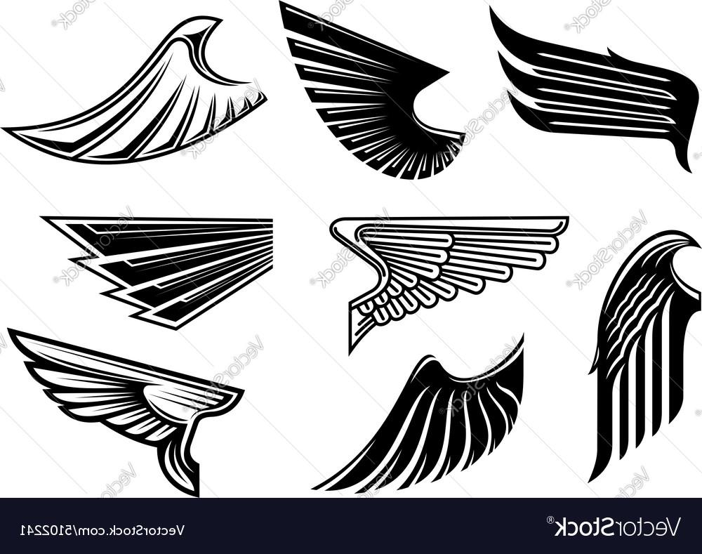 1000x789 Best Hd Black Heraldic And Tribal Wings Elements Vector Pictures