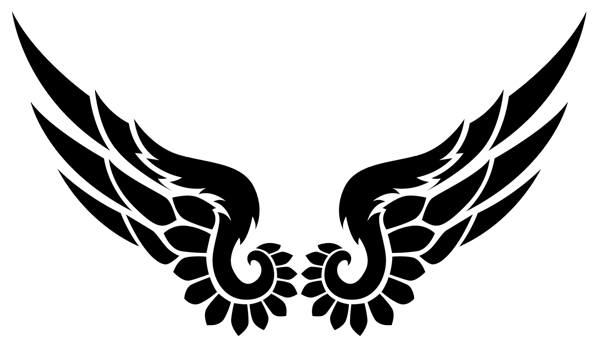 600x340 Collection Of Free Wing Drawing Tribal. Download On Ubisafe