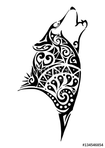 Tribal Wolf Vector At Getdrawings Com Free For Personal