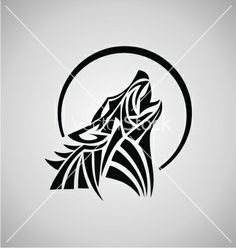 236x248 Tribal Wild Wolf. Tattoo Style Vector Wolf Tattoos