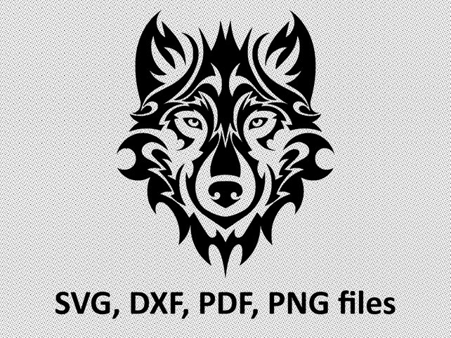 642x482 Wolf Svg Wolf Dxf Wolf Clipart Wolf Files Tribal Symetric Etsy