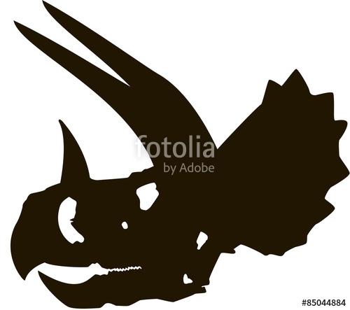 500x443 Skeleton Clipart Triceratops