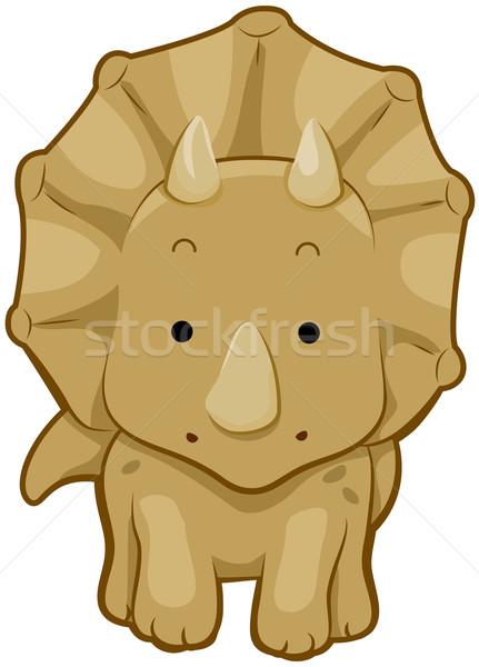 431x600 Cute Triceratops Vector Illustration Lenm ( 421214) Stockfresh
