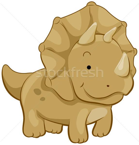 574x600 Cute Triceratops Vector Illustration Lenm ( 421224) Stockfresh