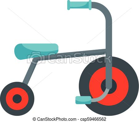 450x397 Kid Tricycle Icon, Flat Style. Kid Tricycle Icon. Flat