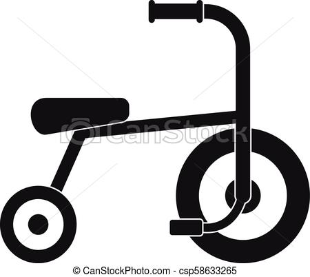 450x402 Little Tricycle Icon, Simple Style. Little Tricycle Icon. Simple