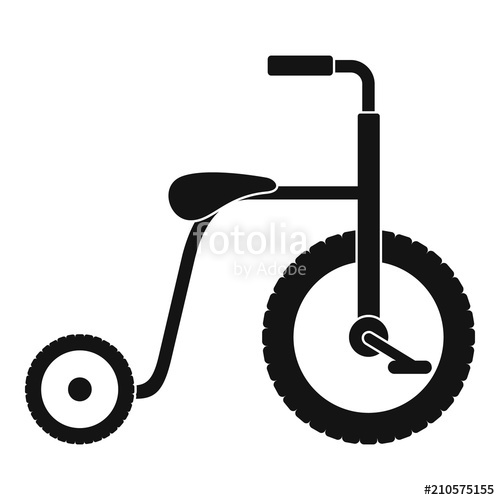 500x500 Plastic Tricycle Icon. Simple Illustration Of Plastic Tricycle