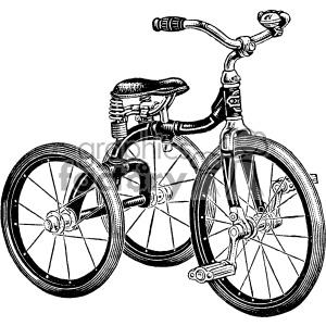 300x300 Royalty Free Vintage Tricycle Vector Vintage 1900 Vector Art Gf