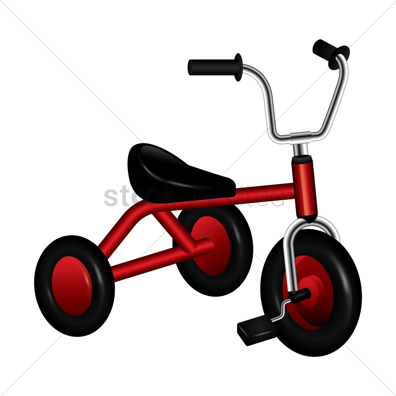 1300x1300 Tricycle Vector Image