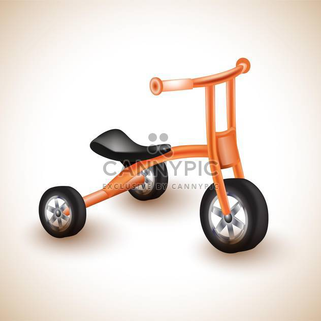 632x632 Childish Tricycle Vector Illustration Free Vector Download 132666
