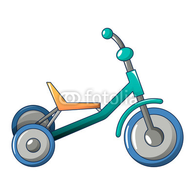 400x400 Tricycle Icon. Cartoon Of Tricycle Vector Icon For Web Design