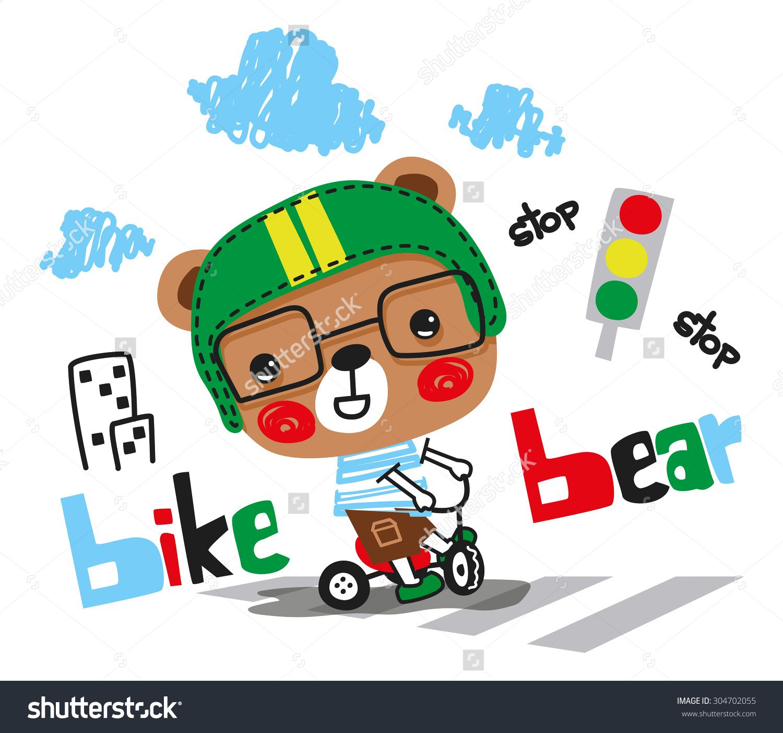 1500x1403 Very Cute Bear On Tricycle Vector. Artes Bears