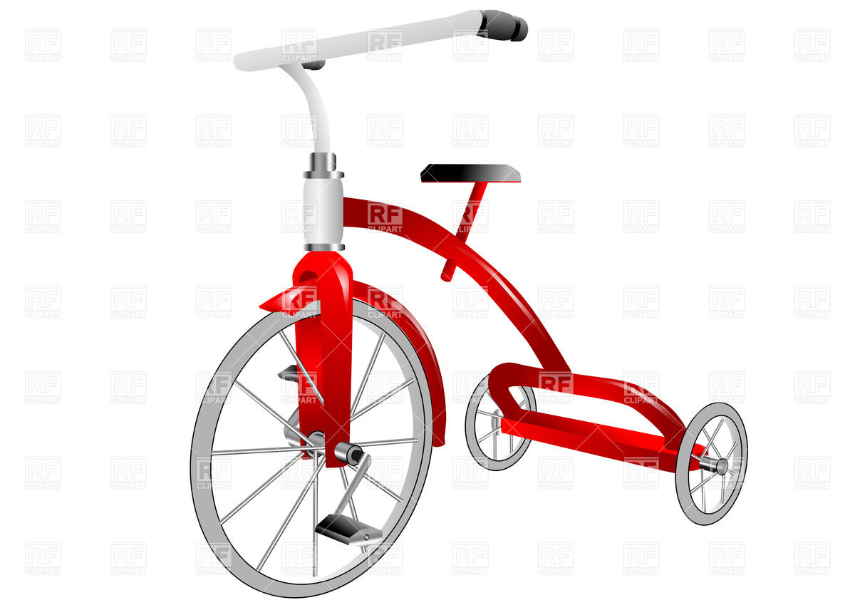 1200x849 Childish Tricycle Isolated On White Background Vector Image