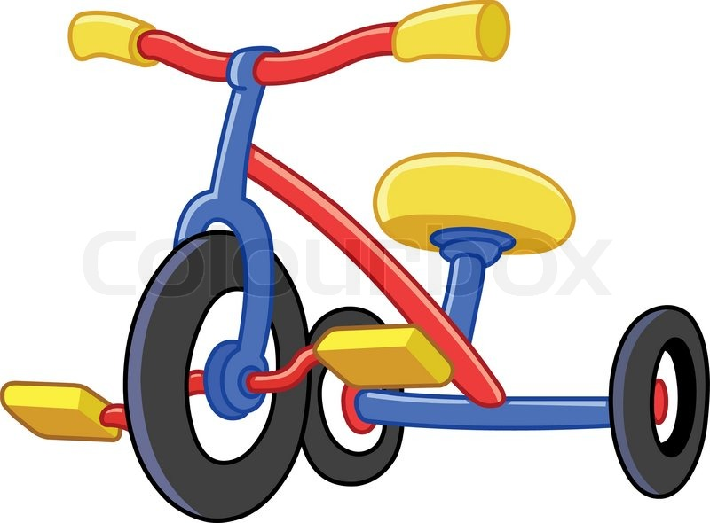 800x590 Colorful Tricycles Stock Vector Colourbox