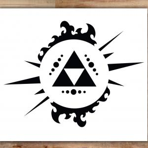 300x300 Photostock Vector Retro Styled Futuristic Landscape With Triforce
