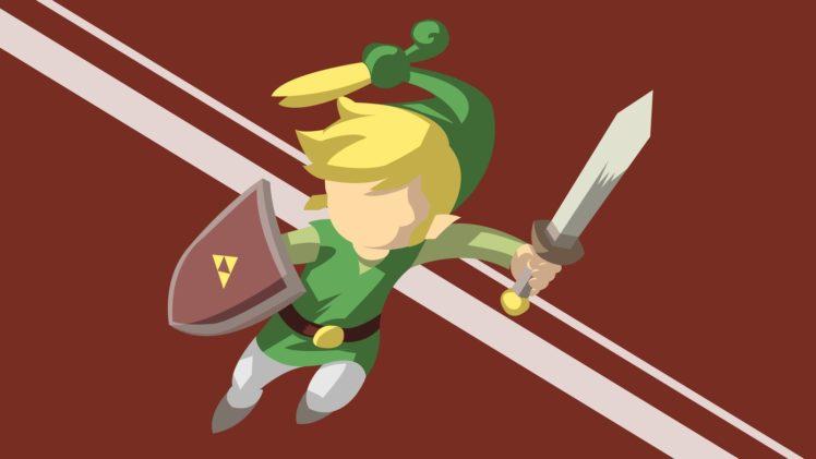748x421 The Legend Of Zelda Minish Cap, Vector Art, Red, Green, Link