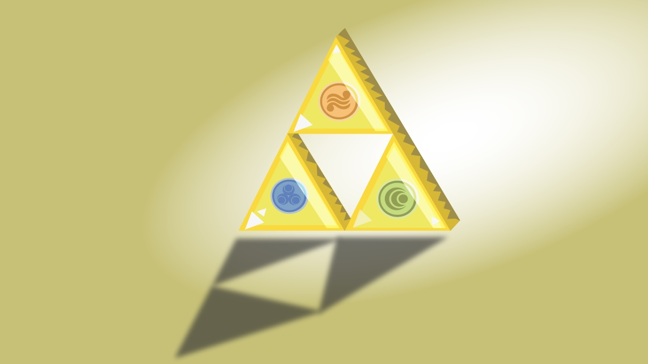 1280x720 Triforce Speed Vector Drawing