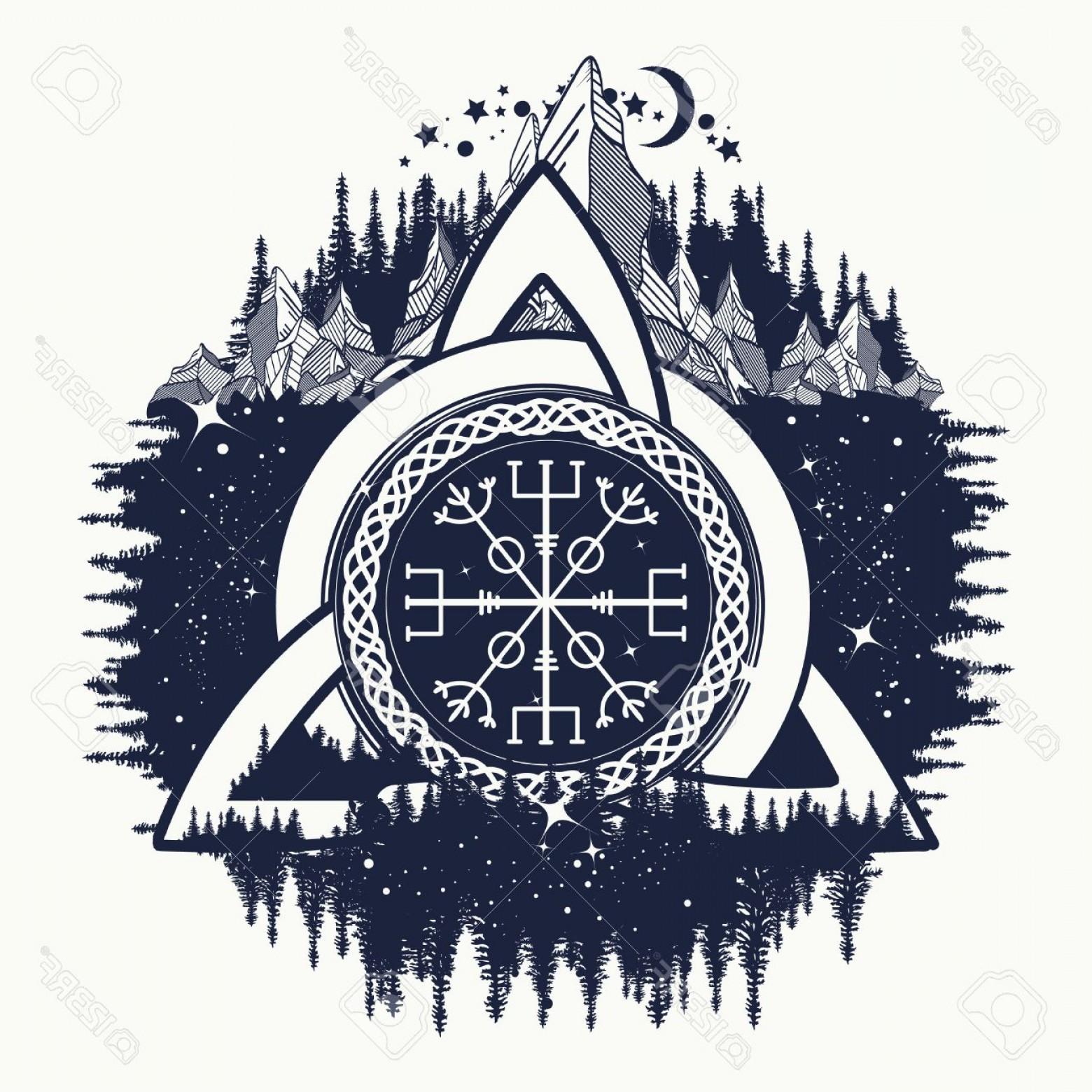1560x1560 Photostock Vector Celtic Trinity Knot Helm Of Awe Aegishjalmur