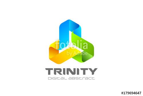 500x337 Trinity Infinity Loop Logo Vector. Ribbon Triangle Infinite Icon