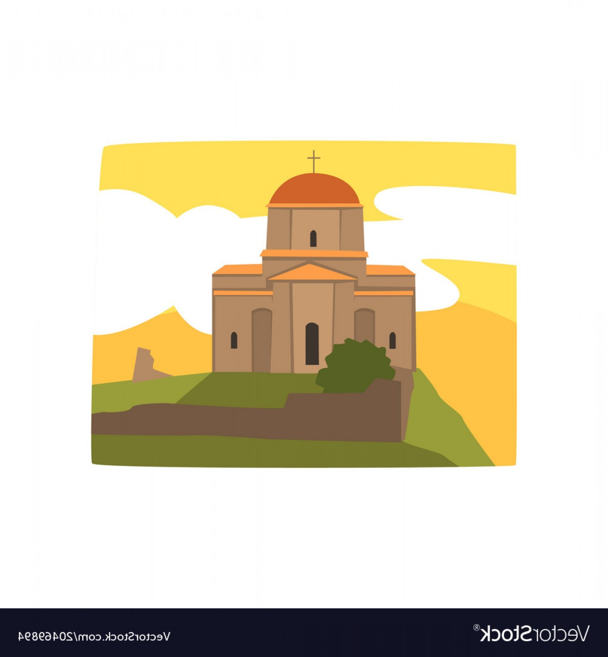 1198x1296 Holy Trinity Cathedral Of Tbilisi Georgian Vector Shopatcloth