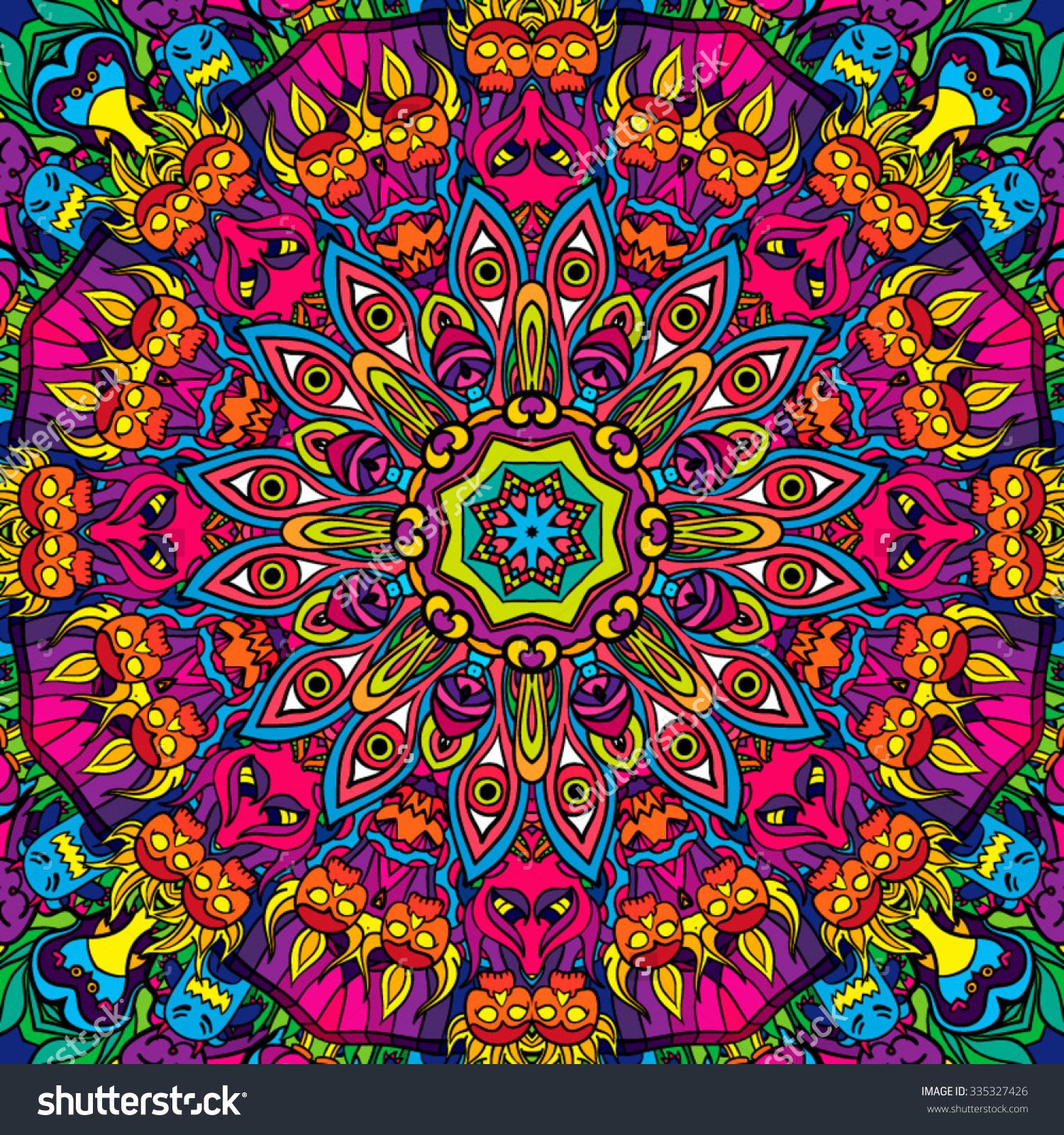 1500x1600 Psychedelic Clipart Vector
