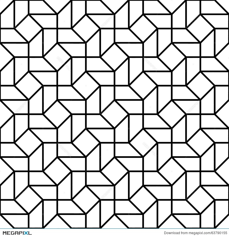800x830 Vector Modern Seamless Geometry Pattern Trippy, Black And White