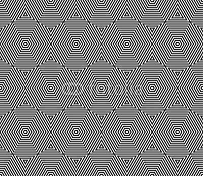 400x346 Vector Modern Seamless Pattern Trippy ,black And White Textile