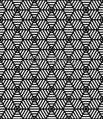 346x400 Vector Seamless Trippy Pattern ,textile Print With Illusion, Black